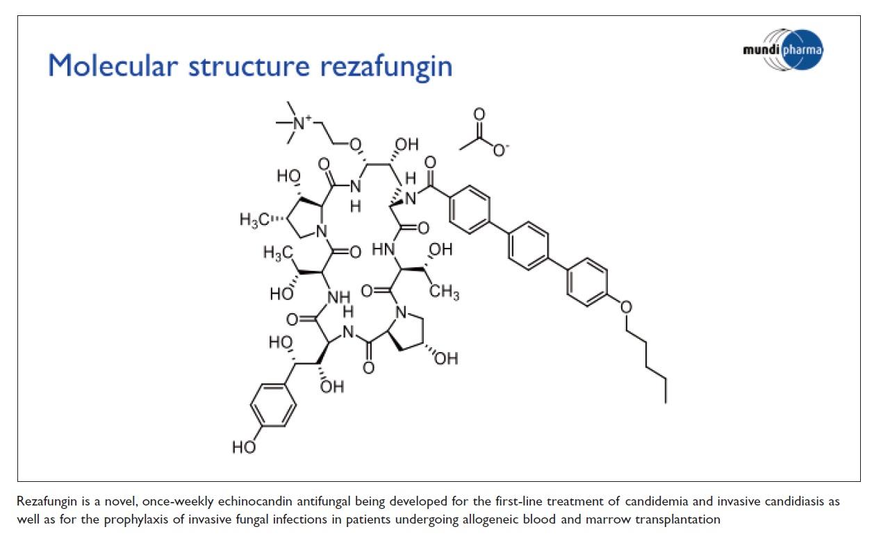 Figure 1 Molecular structure rezafungin