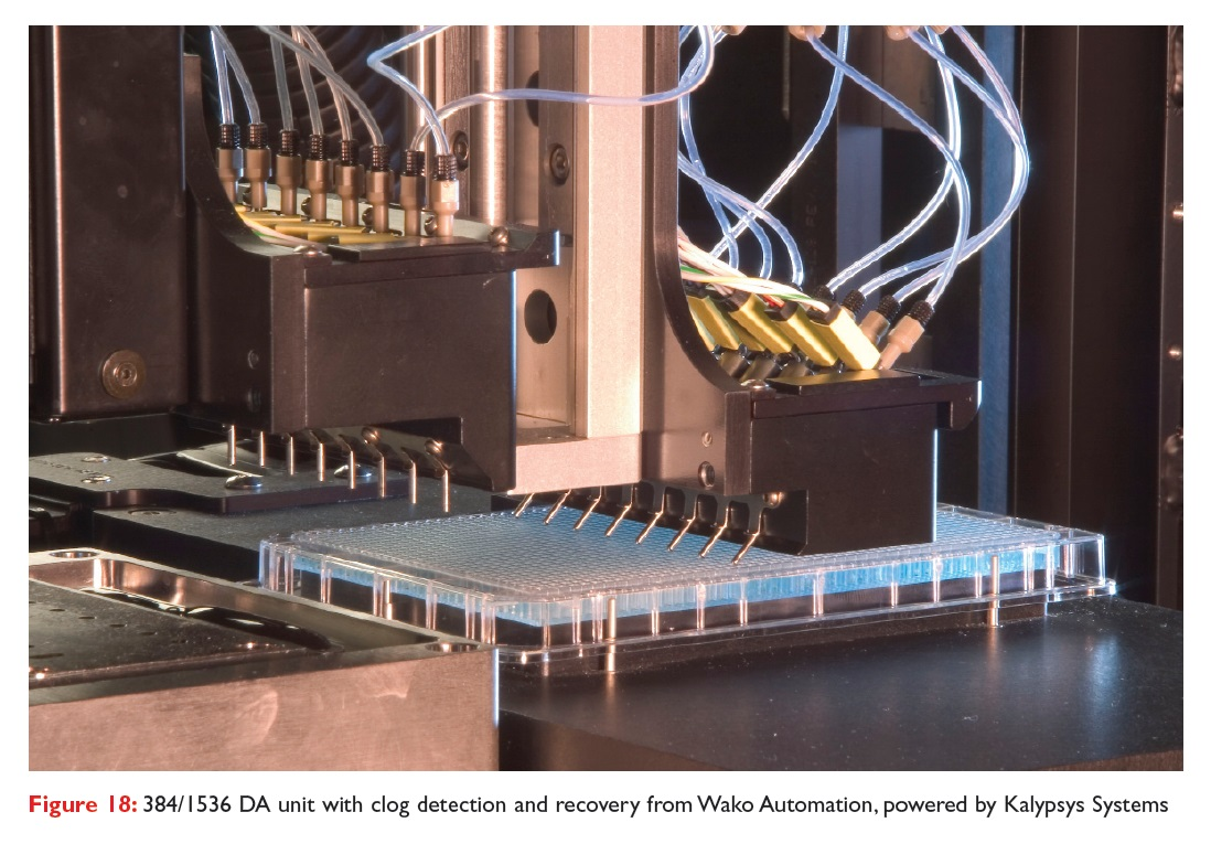 Figure 18 384/1536 DA unit with clog detection and recovery from Wako Automation, powered by Kalypsys Systems