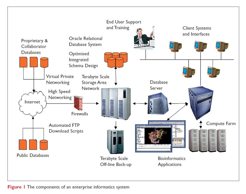Figure 1 The components of an enterprise informatics sytem