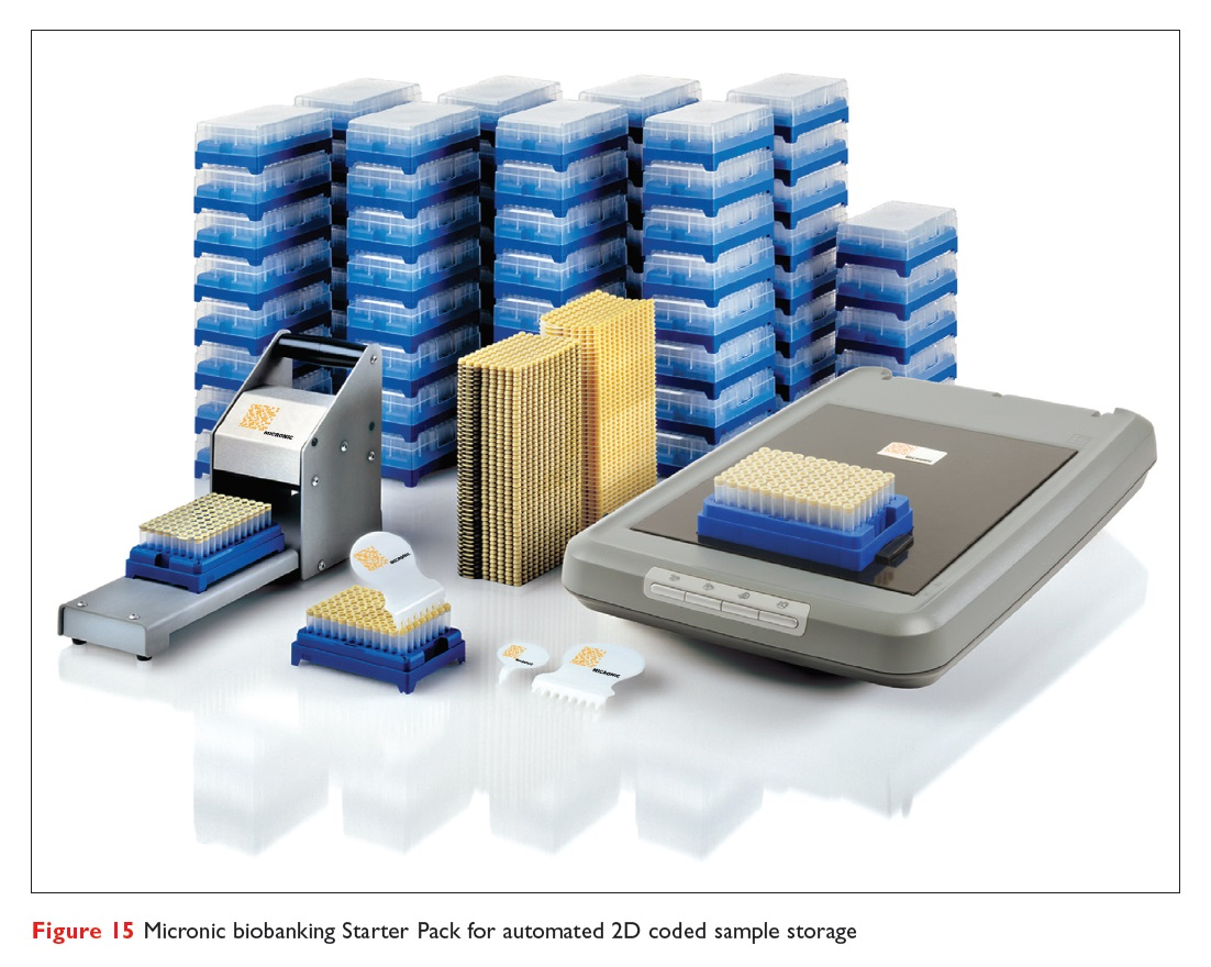 Figure 15 Micronic biobanking Starter Pack for automated 2D coded sample storage