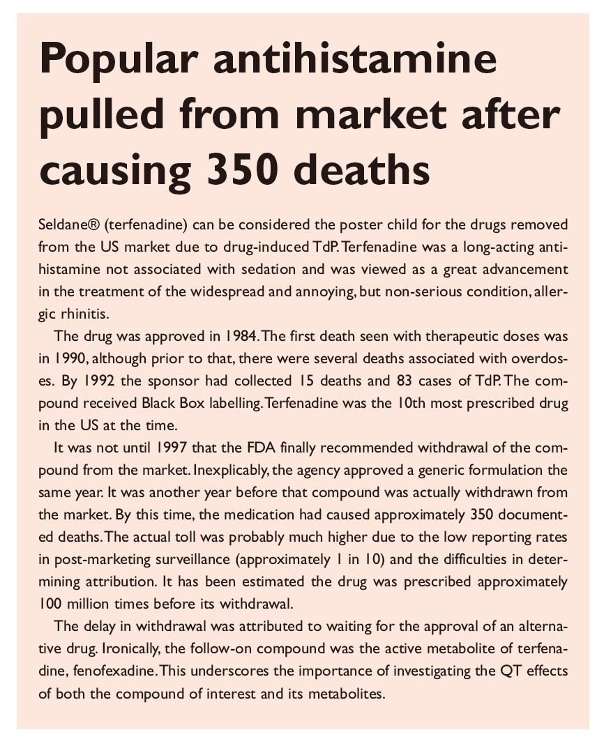 Excerpt 1 Popular antihistamine pulled from market after causing 350 deaths