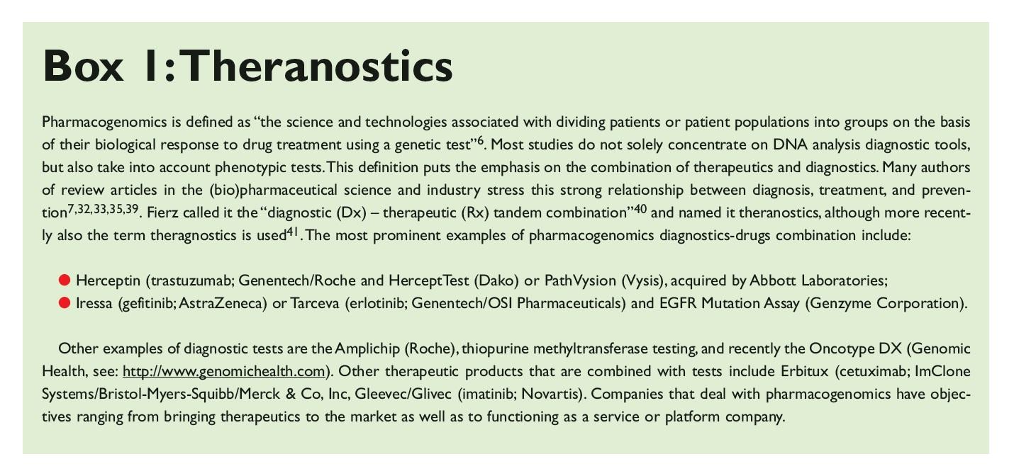 Box 1 Theranostics examples text