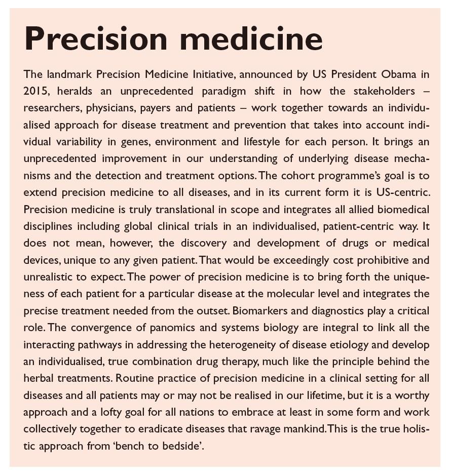 Figure 5 Precision medicine text excerpt, landmark precision medicine initiative
