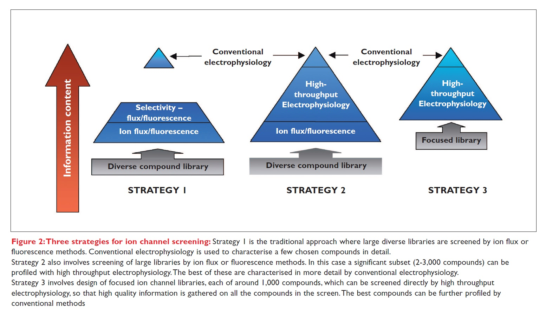 Figure 2 Three strategies for ion channel screening