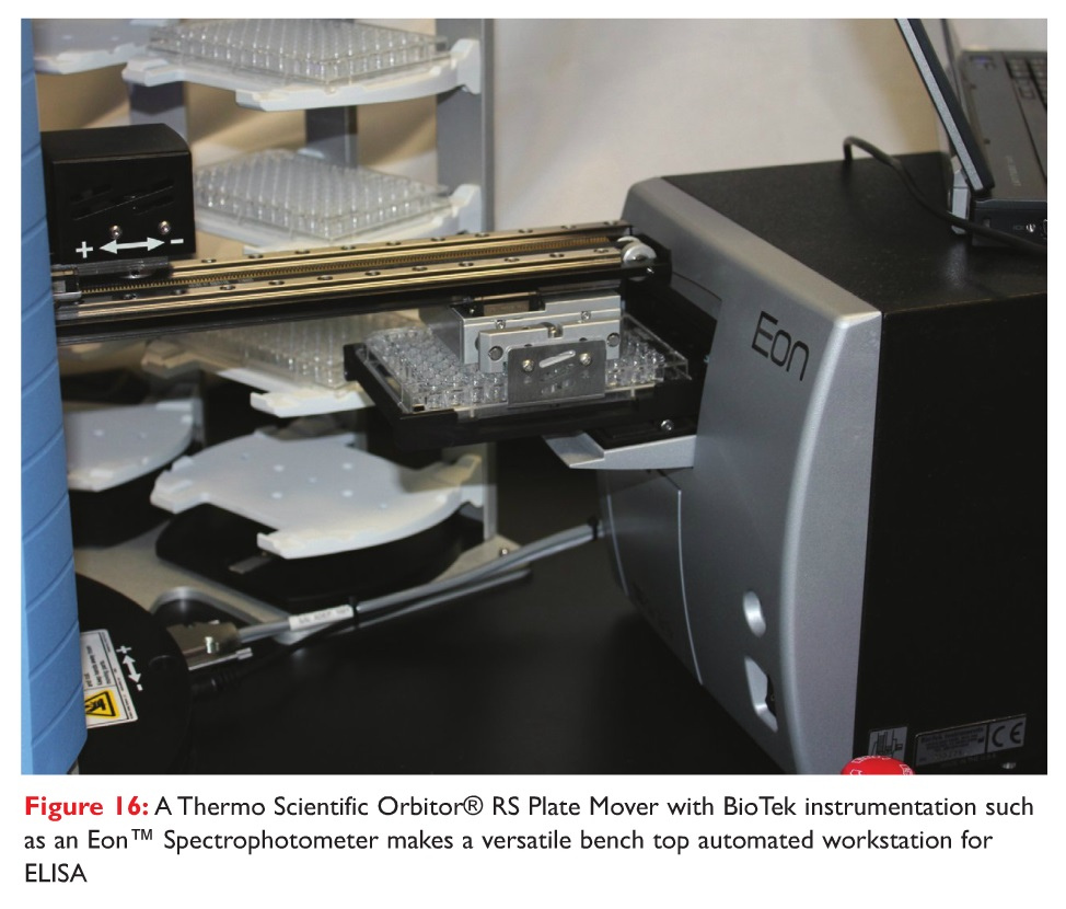 Figure 16 A Thermo Scientific Orbitor RS Plate Mover with BioTek instrumentation