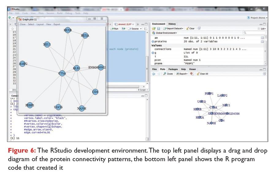 Figure 6 The RStudio development environment