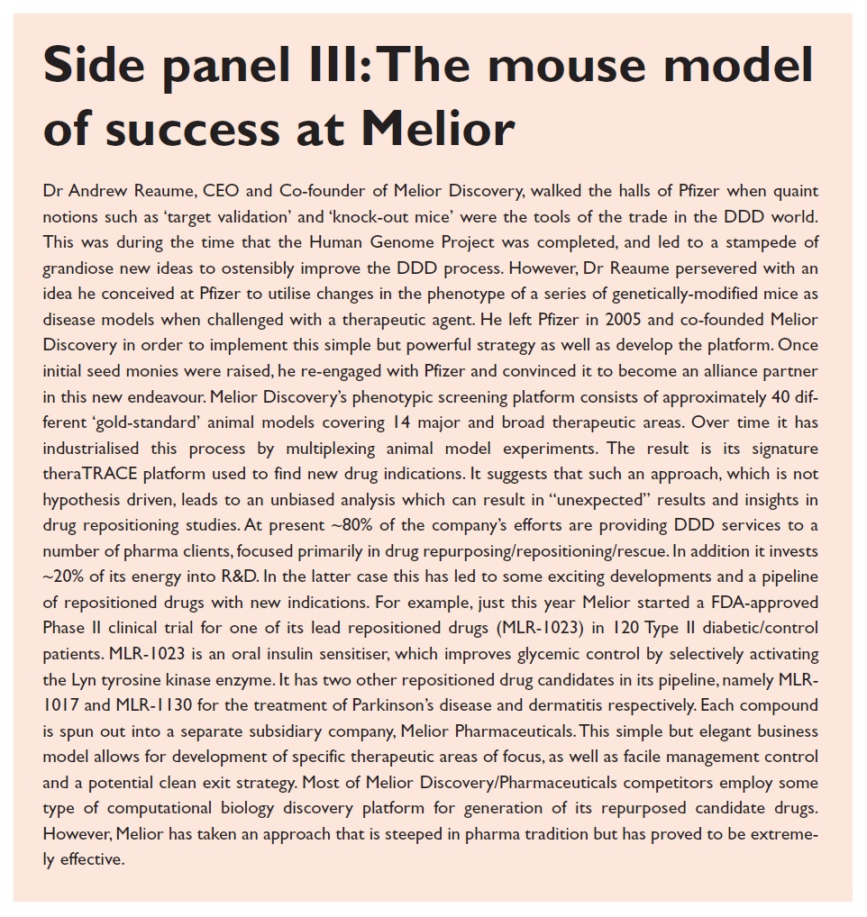 Side panel 3 The mouse model of success at Melior