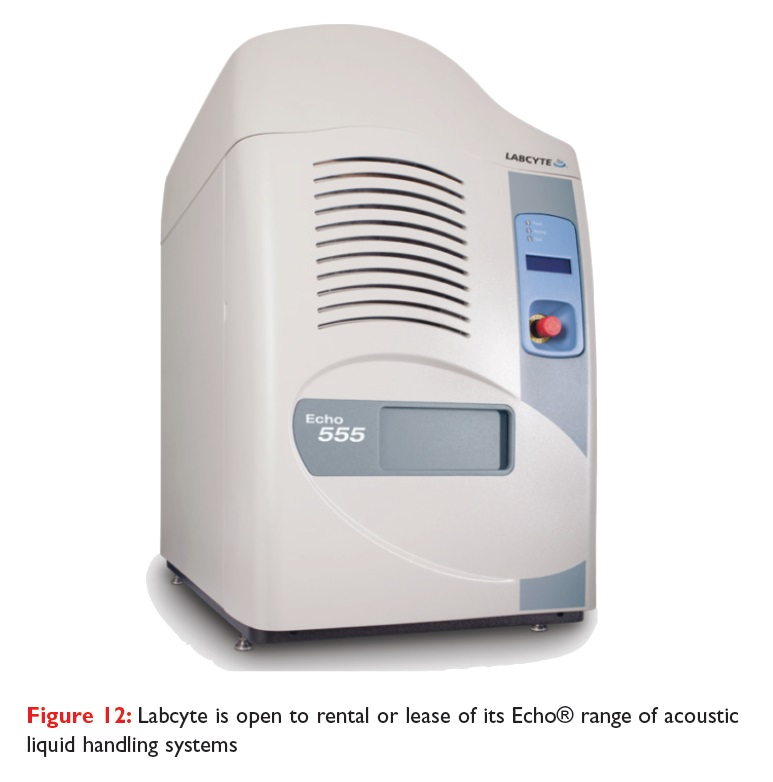 Figure 12 Labcyte is open to rental or lease of its Echo range of acoustic liquid handling systems