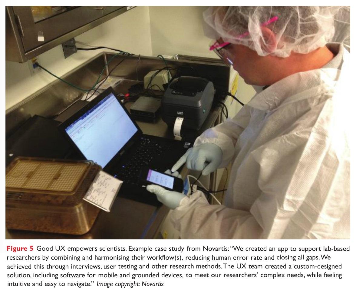 Figure 5 Good UX empowers scientists, case study image example form Novartis