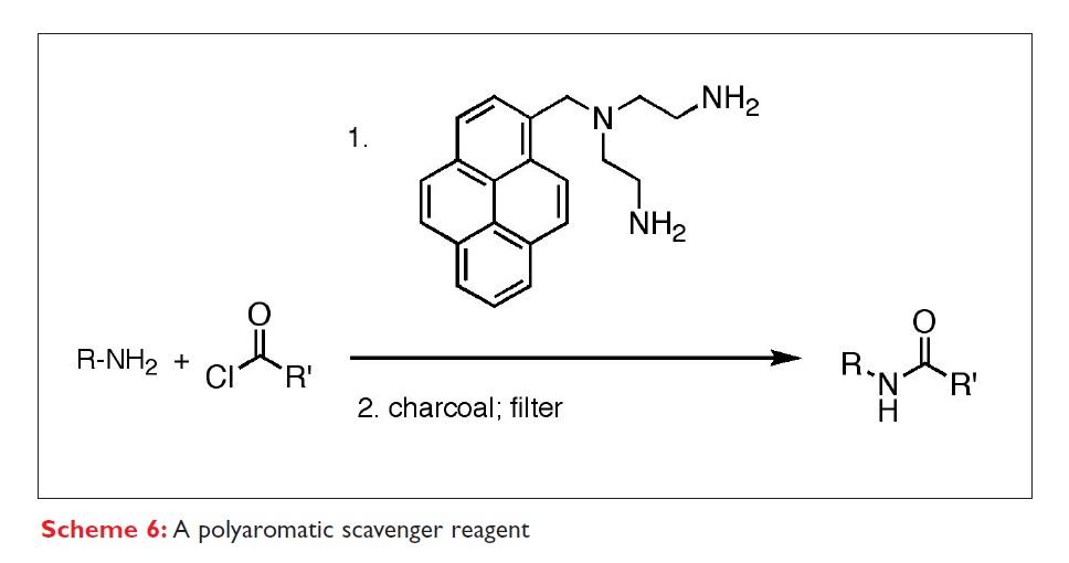 Scheme 6 A polyaromatic scavenger reagent