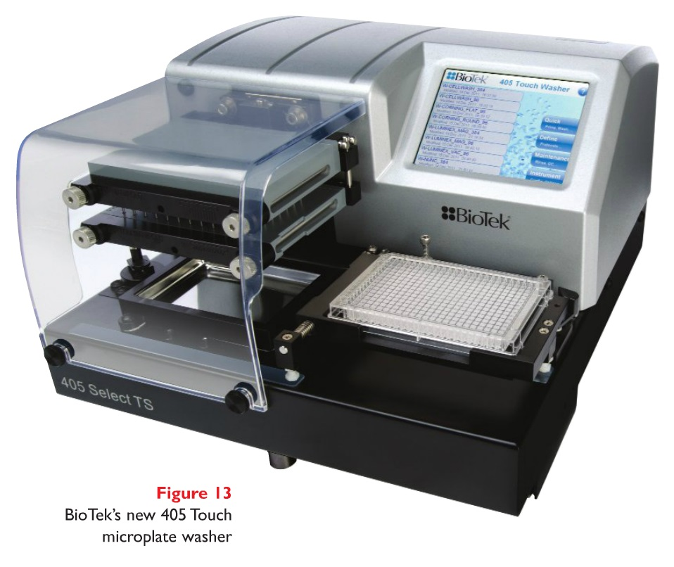 Figure 13 BioTek's new 405 Touch microplate washer
