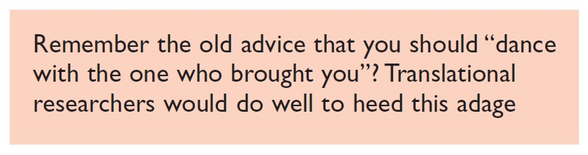 Quote for translational researchers