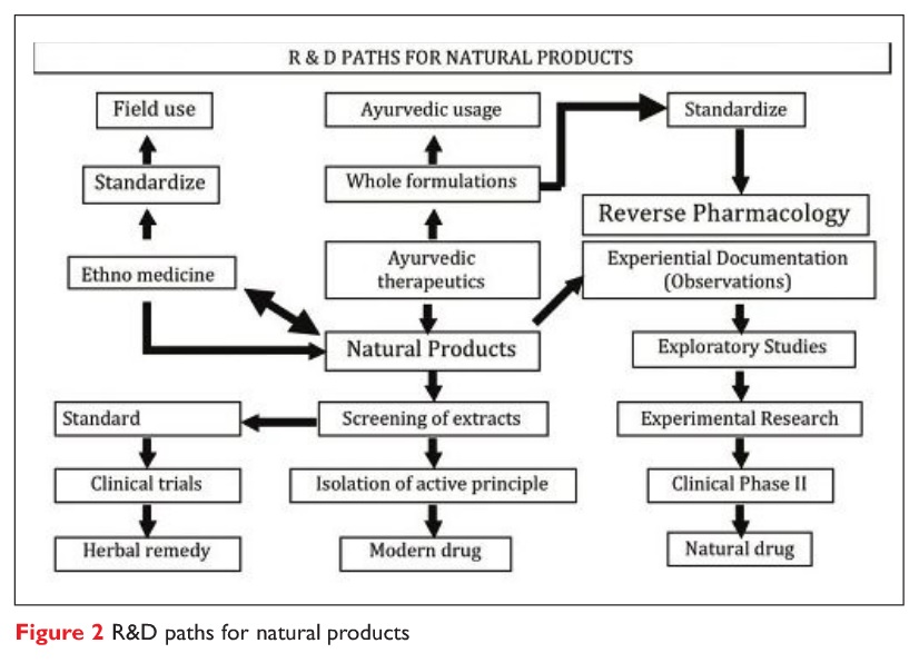 Figure 2 R&D paths for natural products