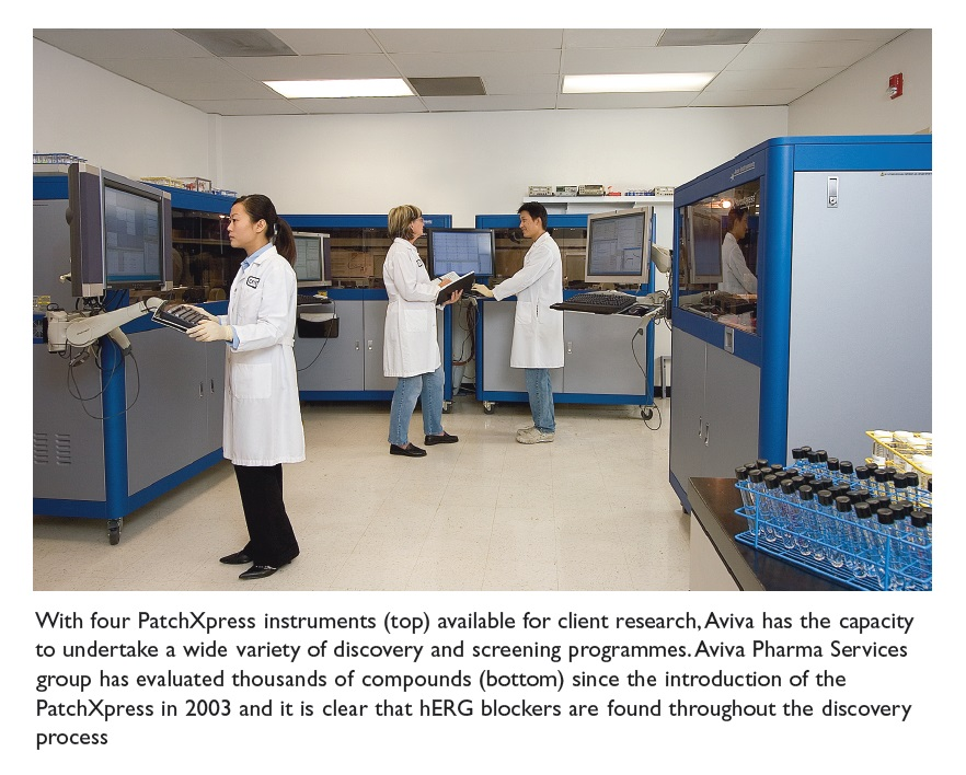 Image 1 With four PatchXpress instruments available for client research, Aviva has the capacity to undertake a wide variety of discovery and screening