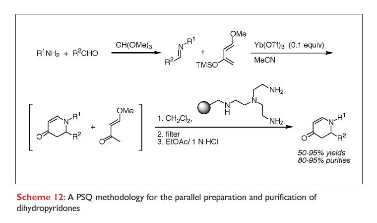 Scheme 12 A PSQ methodology for the parallel preparation and purification of dihydropyridones