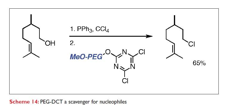 Scheme 14 PEG-DCT a scavenger for nucleophiles