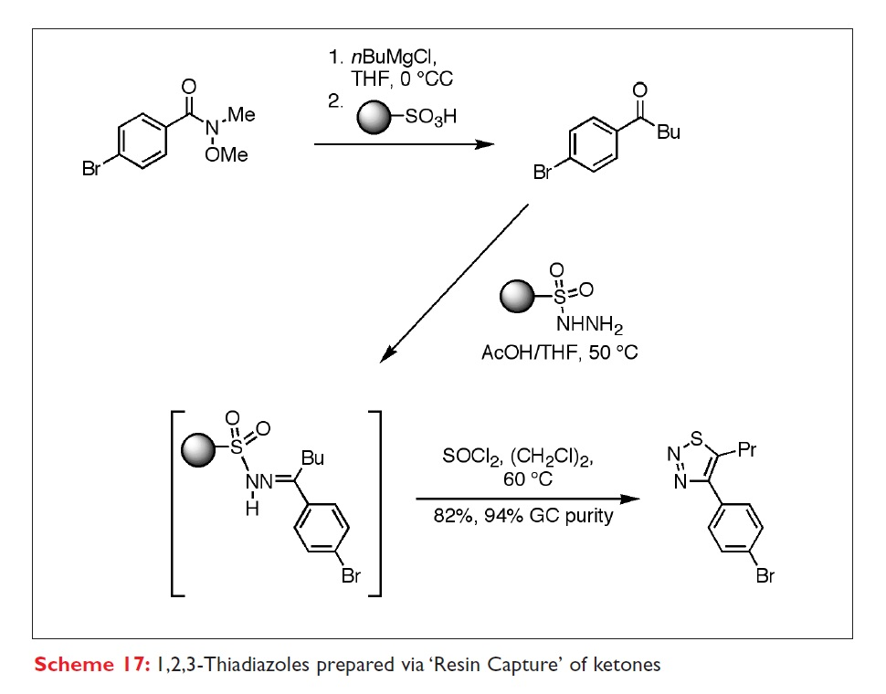 Scheme 17 1,2,3-Thiadiazoles prepared via 'Resin Capture' of ketones