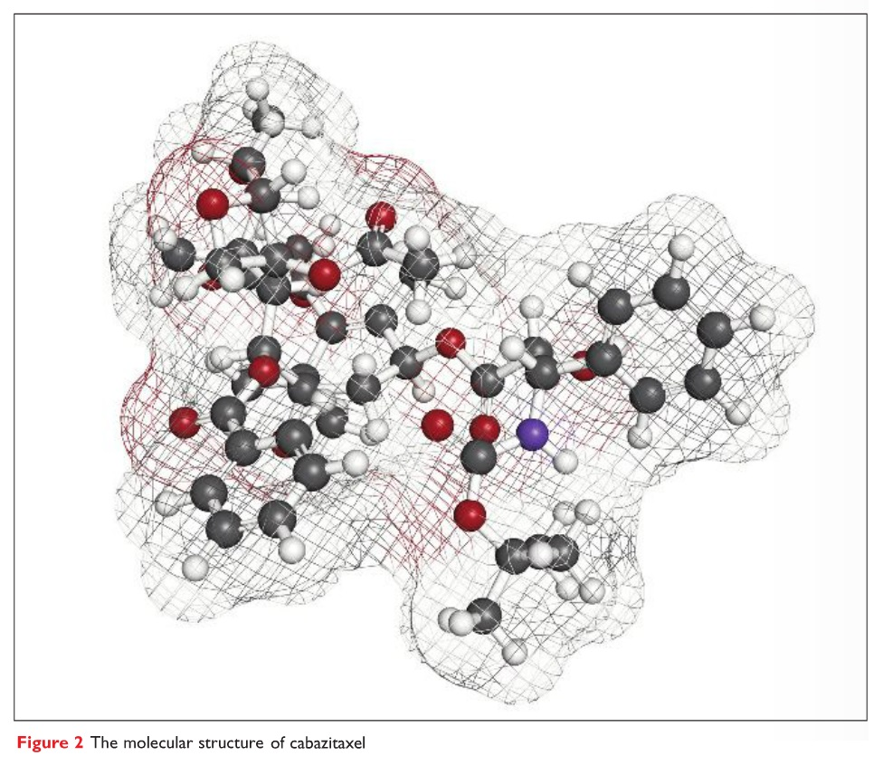 Figure 2 The molecular structure of cabazitaxel