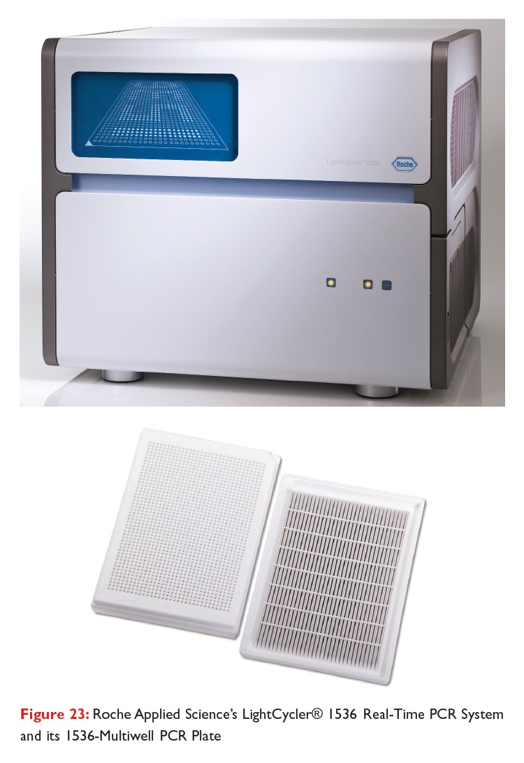 Figure 23 Roche Applied Science's LightCycler 1536 Real-Time PCR System and its 1536-Multiwell PCR Plate