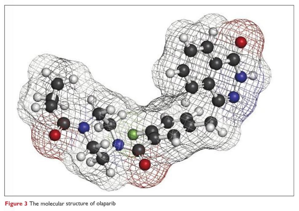 Figure 3 The molecular structure of olaparib