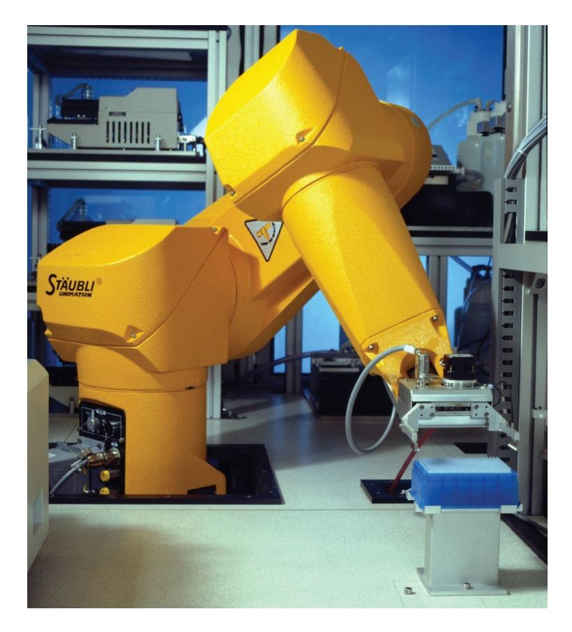 Image 1 Industrial evolution. Staubli unimation Robotic arm